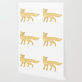 FUR IS FOR ANIMALS NOT RICH IDIOTS vegan fox quote Wallpaper