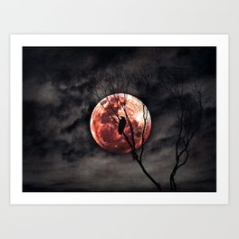 Red Moon Rising - Australia Art Print