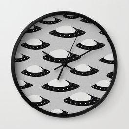 UFOs Incoming Wall Clock