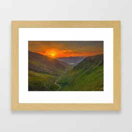 Sunset Over a valley in Kurdistan ca 2017 by Adam Asar Framed Art Print
