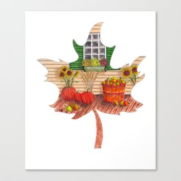 Maple Leaf Fall Canvas Print