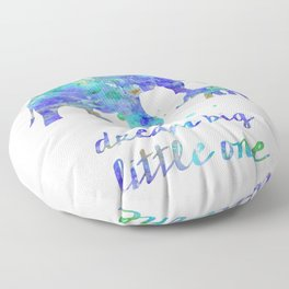 Elephant Dream Big Little One Watercolor Painting Floor Pillow