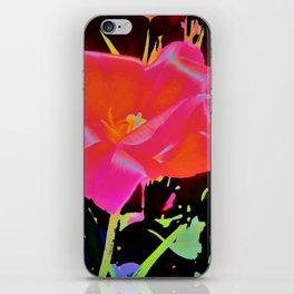 Glowing Flower iPhone Skin