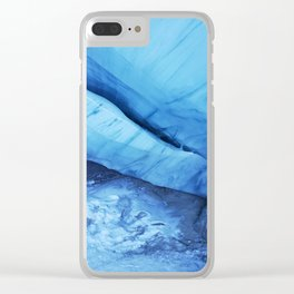 Blue ice of Blackcomb Glacier Ice Cave Clear iPhone Case