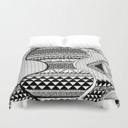 Wavy Geometric Patterns Duvet Cover
