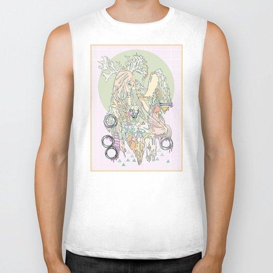 mountbatten pink & bones Biker Tank
