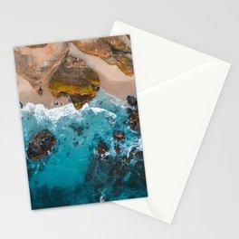 Aerial Coastline at Sunset Stationery Cards