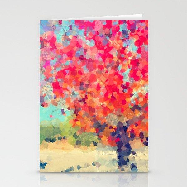 Orange Tree Watercolor digital Stationery Cards