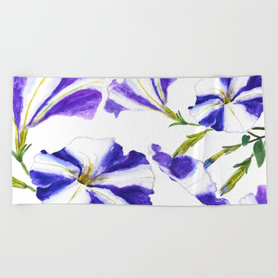 petunia Beach Towel
