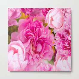 Large Pink Peony Flowers #decor #society6 #buyart Metal Print