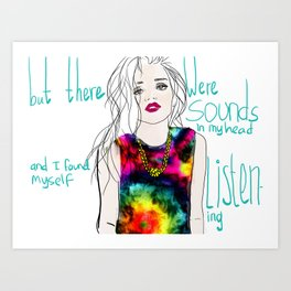 sounds in my head Art Print