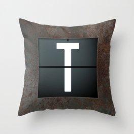 monogram schedule t Throw Pillow
