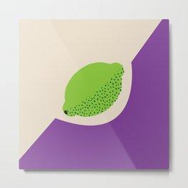 Fruitbowl, Lime Metal Print