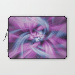 Purple and Blue Light Waves Laptop Sleeve