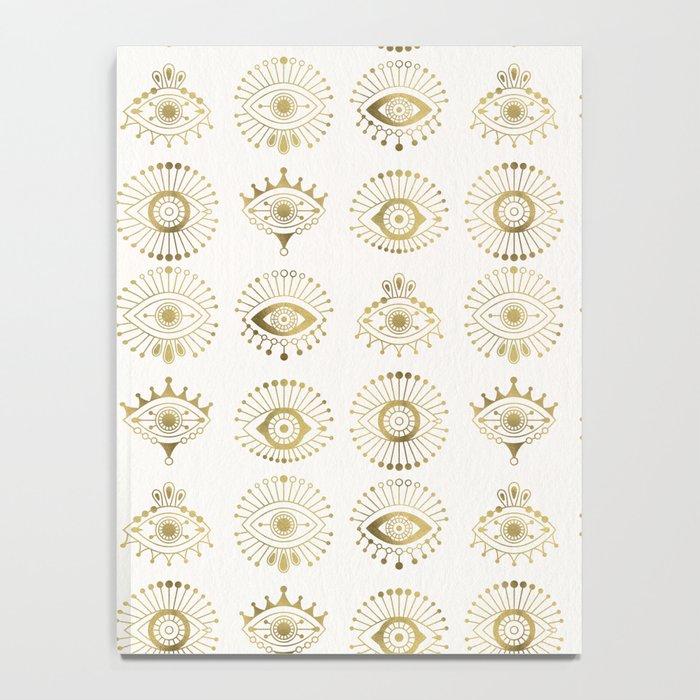Evil Eyes – Gold Palette Notebook
