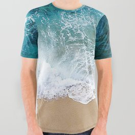 Ocean Waves I All Over Graphic Tee