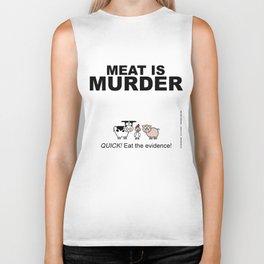 MEAT IS (tasty) MURDER Biker Tank