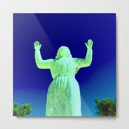 Desert Christ Park, Joshua Tree, CA — Alien Christ Metal Print