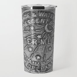 New Orleans Water Meter Cover Crescent City Louisiana Travel Mug