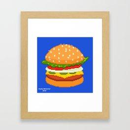 Burger Framed Art Print