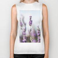 lavender Biker Tanks featuring Lavender by Julia Dávila-Lampe