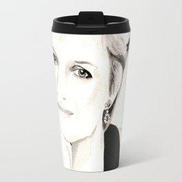 Vogue Magazine Cover. Lady Diana Spencer. Fashion Illustration Travel Mug
