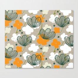 Spring Garden M+M Latte by Friztin Canvas Print