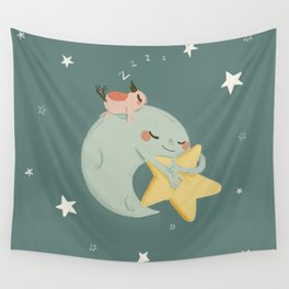 Moon Nap Wall Tapestry