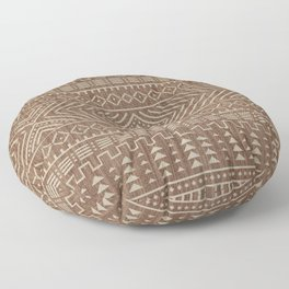 N112 - Traditional Boho Farmhouse African Moroccan Artwork. Floor Pillow