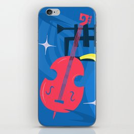 Jazz Composition With Bass, Saxophone And Trumpet iPhone Skin