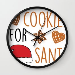 Cute Christmas Cookies for Santa Wall Clock