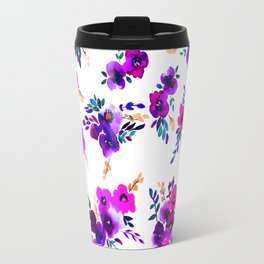 Ava Floral Purple Travel Mug