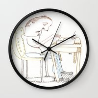 write Wall Clocks featuring Write, Right? by Joseph Nathan
