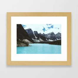 Lake Moraine landscape Framed Art Print