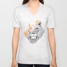 If I roar (The King Lion) Unisex V-Neck