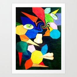 Picasso & Boredom Inspired Art Print