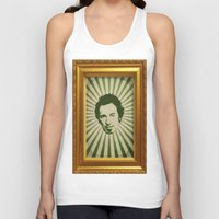 springsteen Tank Tops featuring The Boss by Durro