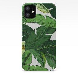 banana leaf palms iPhone Case