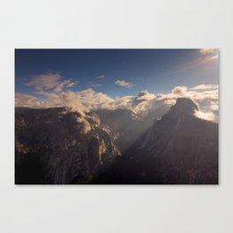 Sunrays Over Half Dome Canvas Print