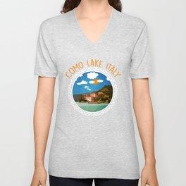 Como Lake Italy 2 Unisex V-Neck