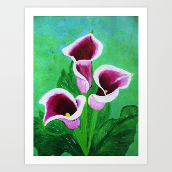 Kala Lilies  Art Print