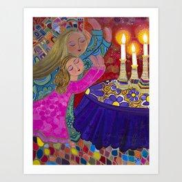 Sisters Storm the Heavens Art Print