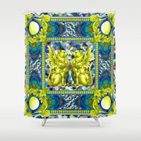 baroque Shower Curtains featuring Rock Baroque by FakeFred