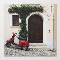 vespa Canvas Prints featuring Vespa by Simone Enei