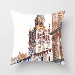 Catedral de Sevilla Throw Pillow