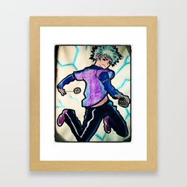 Anime: hunter X hunter killua zoldyack painting Framed Art Print