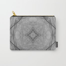 Flower shaped fractal mandala, digital artwork for creative graphic design. Colorful glowing abstrac Carry-All Pouch
