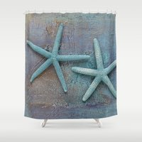 starfish Shower Curtains featuring Starfish by LebensART Photography