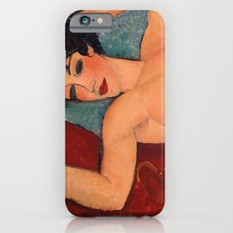 Amedeo Modigliani - Lying nude iPhone Case