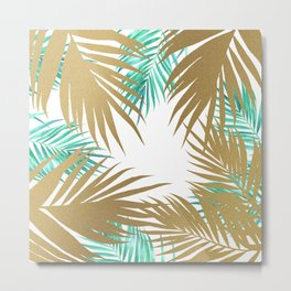 Golden Paradise Beach Pattern Metal Print